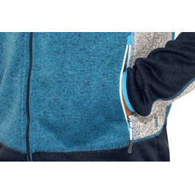 Meru M's Lerum Knitted Fleece Jacket Seaport Melange